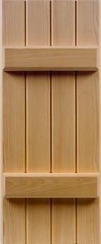 Cypress Batten Shutters
