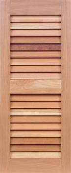 Redwood Louver Shutters